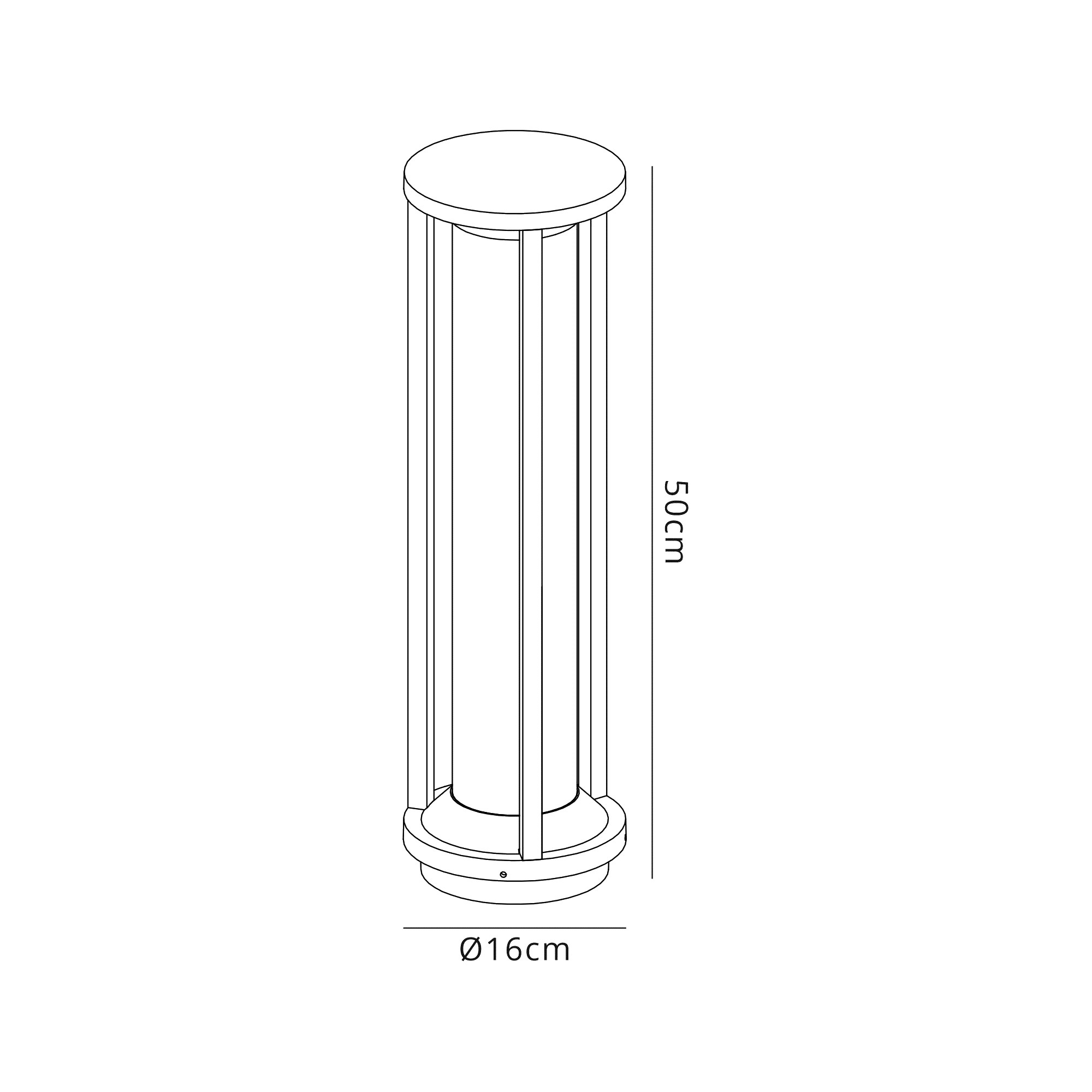 Post Lamp Large, 1 x E27, IP65, Anthracite, 2yrs Warranty