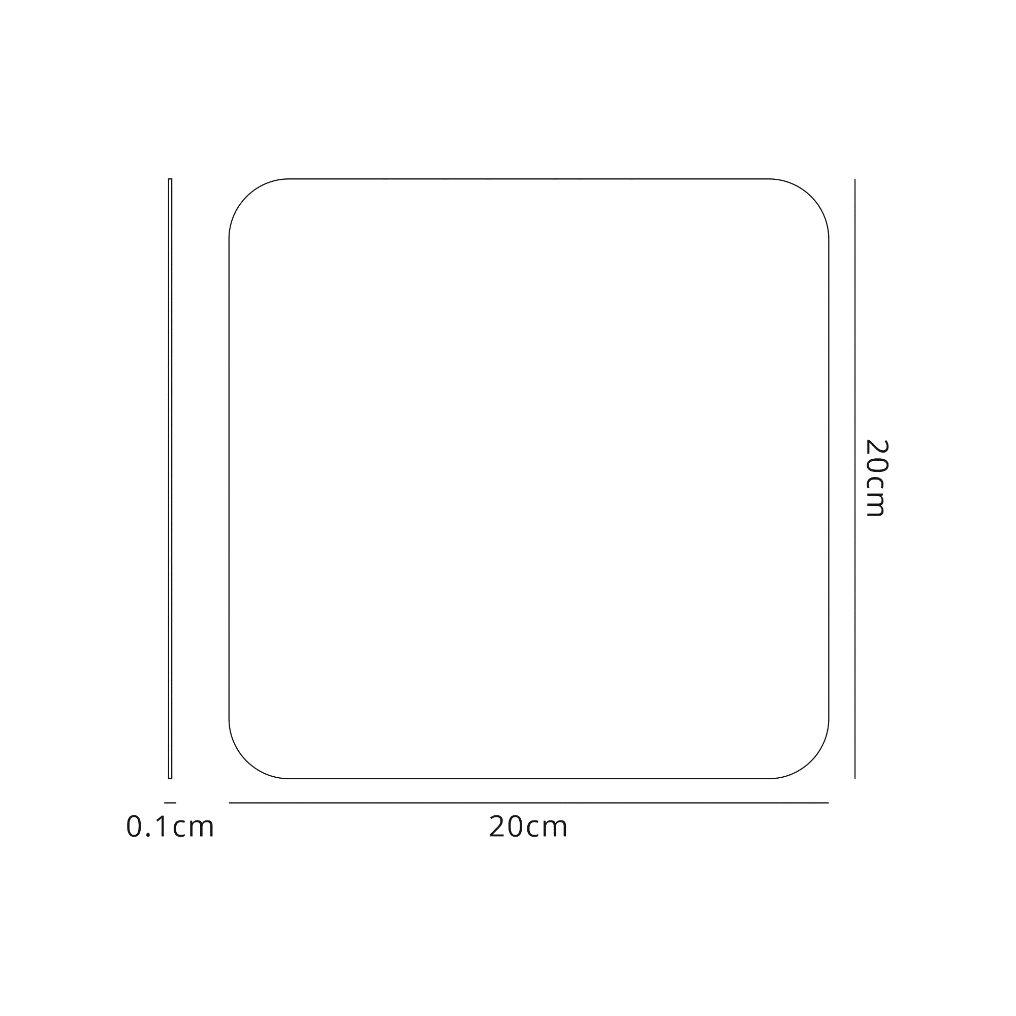 200mm Non-Electric Square Plate