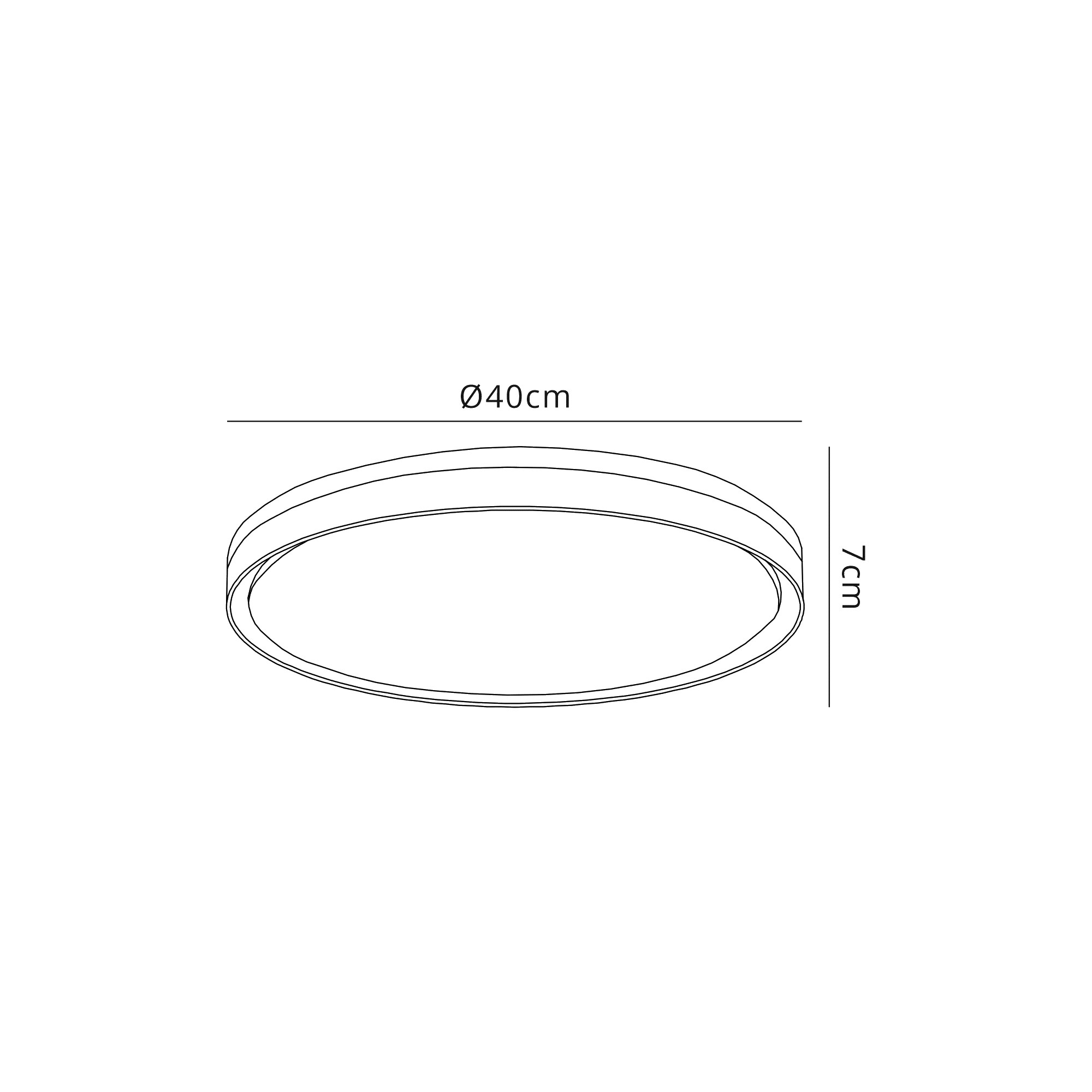 Ceiling 39cm, 1 x 24W LED, 3 Step-Dimmable, 3000K, 1000lm, IP44, Silver/White Acrylic, 3yrs Warranty