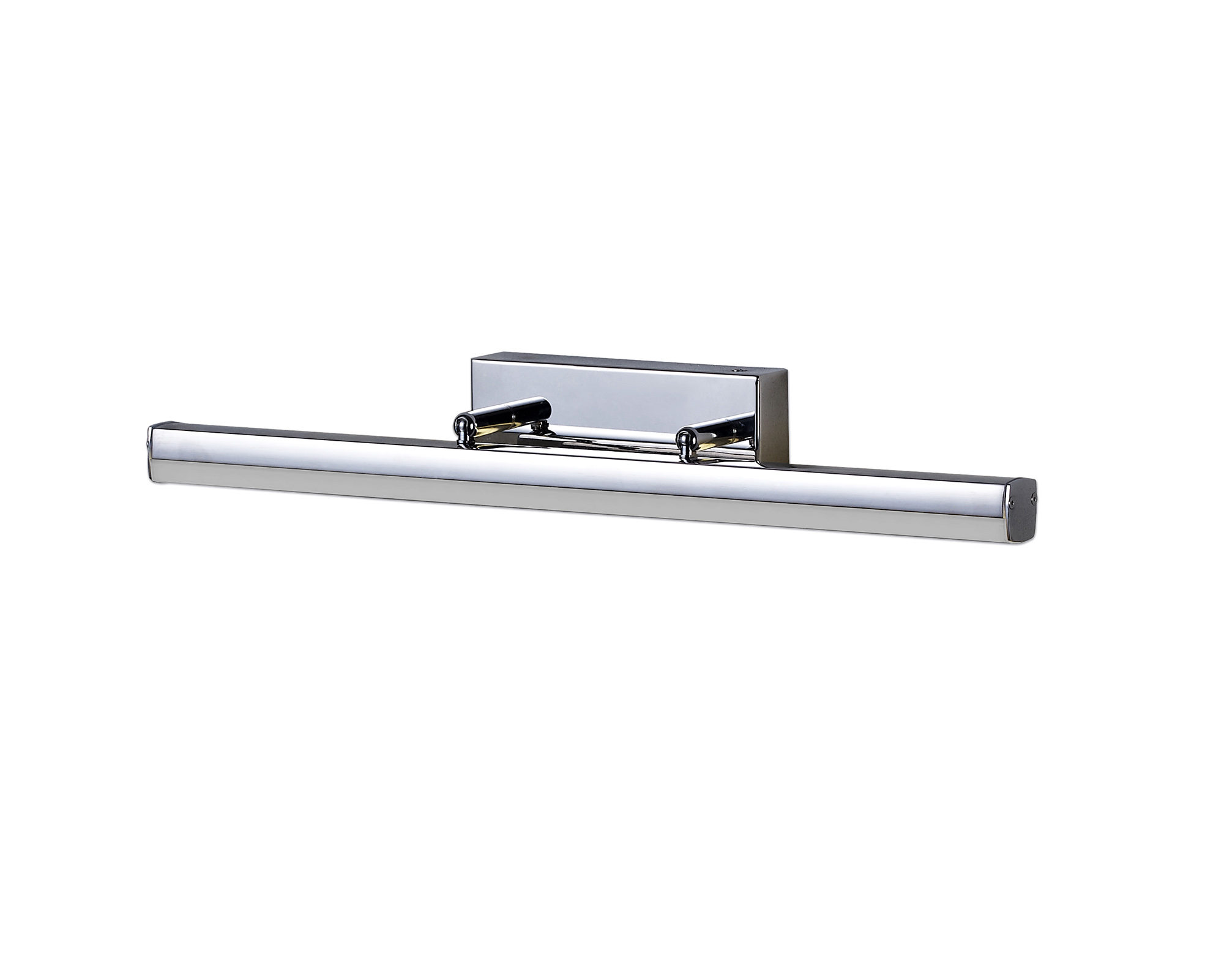 Wall Lamp Small Adjustable, 1 x 6W LED, 4000K, 612lm, IP44, Polished Chrome, 3yrs Warranty