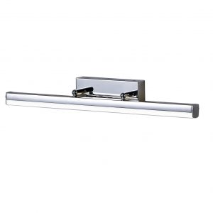 Wall Lamp Medium Adjustable, 1 x 12W LED, 4000K, 1192lm, IP44, Polished Chrome, 3yrs Warranty