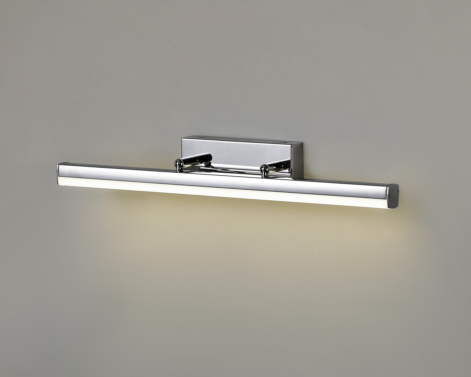 Wall Lamp Large Adjustable, 1 x 18W LED, 4000K, 1784lm, IP44, Polished Chrome, 3yrs Warranty