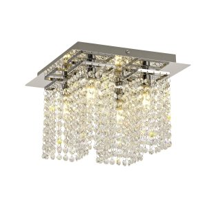Ceiling Light, 4 x G9, IP44, Polished Chrome/Crystal