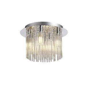 Ceiling Light, 4 x G9, IP44, Polished Chrome/Clear Glass
