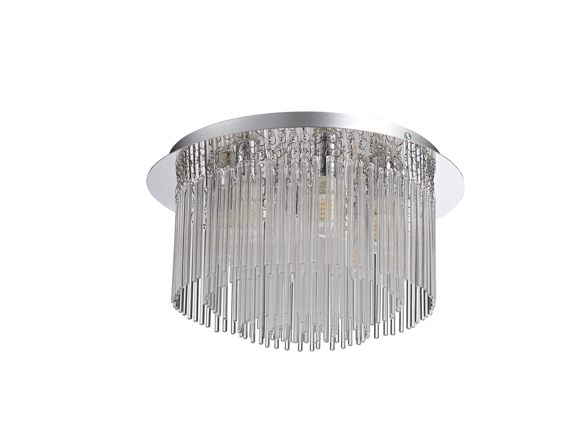 Ceiling Light, 6 x G9, IP44, Polished Chrome/Clear Glass