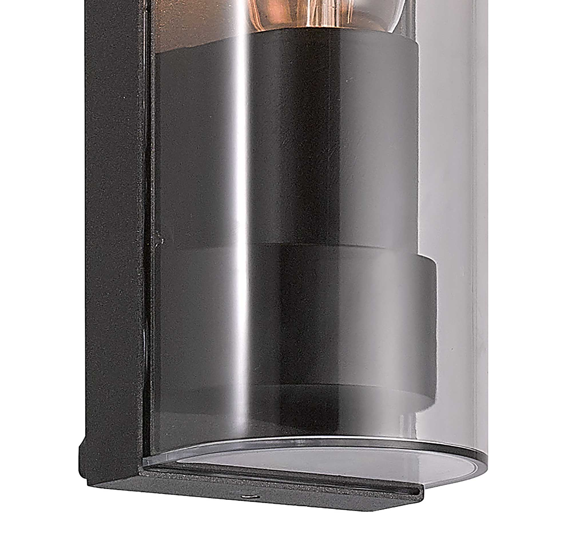 Wall Lamp Curved, 1 x E27, IP65, Anthracite, 2yrs Warranty