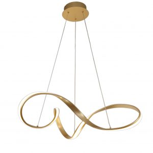 Large Pendant, 1 x 42W LED, 3000K, 2513lm, Sand Gold, 3yrs Warranty