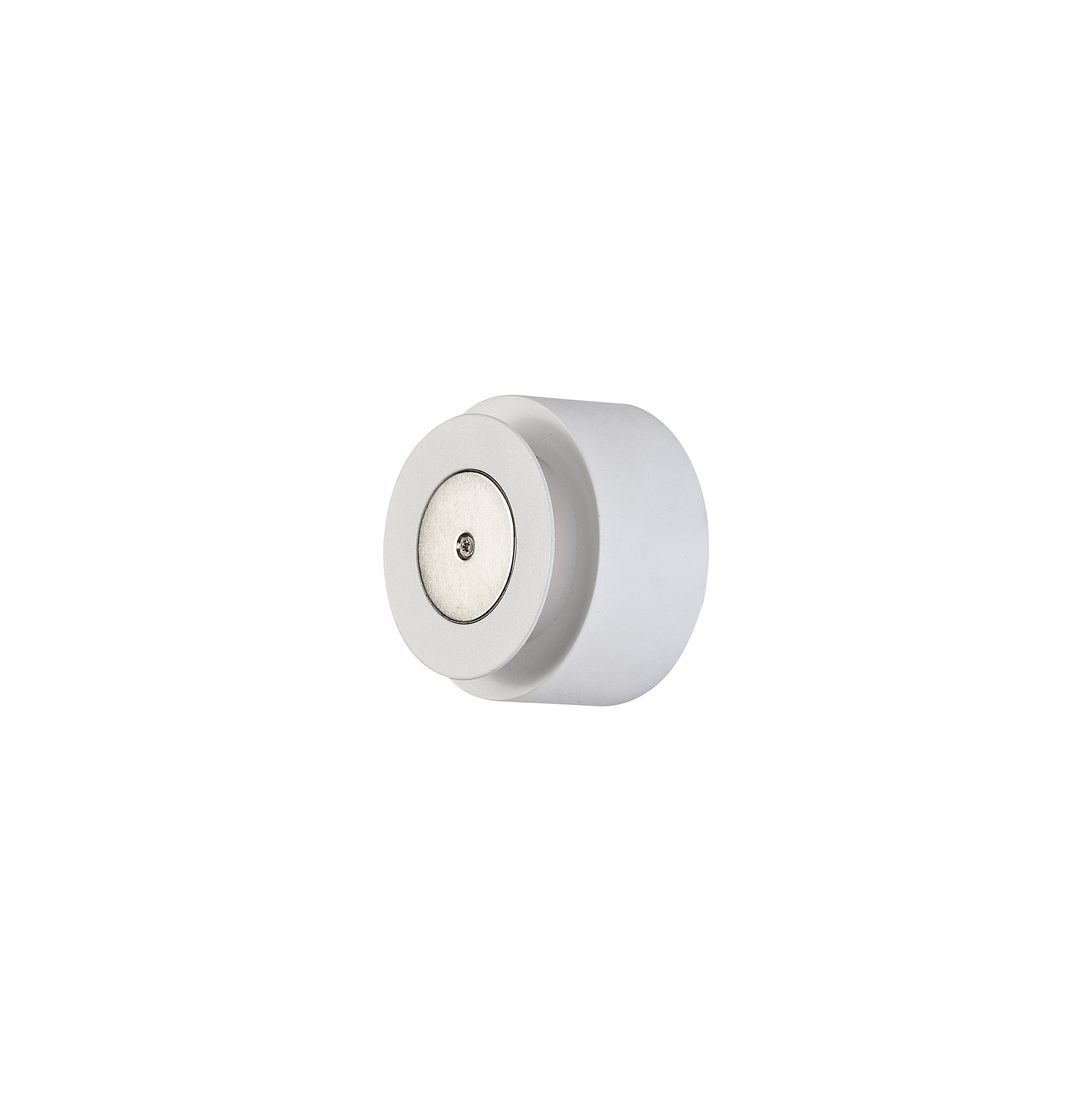 Magnetic Base Wall Lamp, 12W LED 3000K 498lm, 20/19cm Round Right Offset, Frosted Diffuser