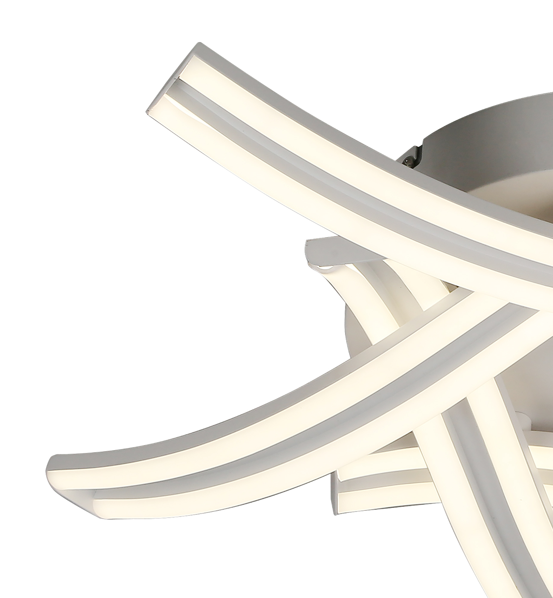 5 Light Ceiling, 5 x 12W LED, 4000K, 3 Step Dimming, 3792lm, White, 3yrs Warranty