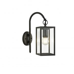Downward Wall Lamp, 1 x E27, IP54, Graphite Black, 2yrs Warranty
