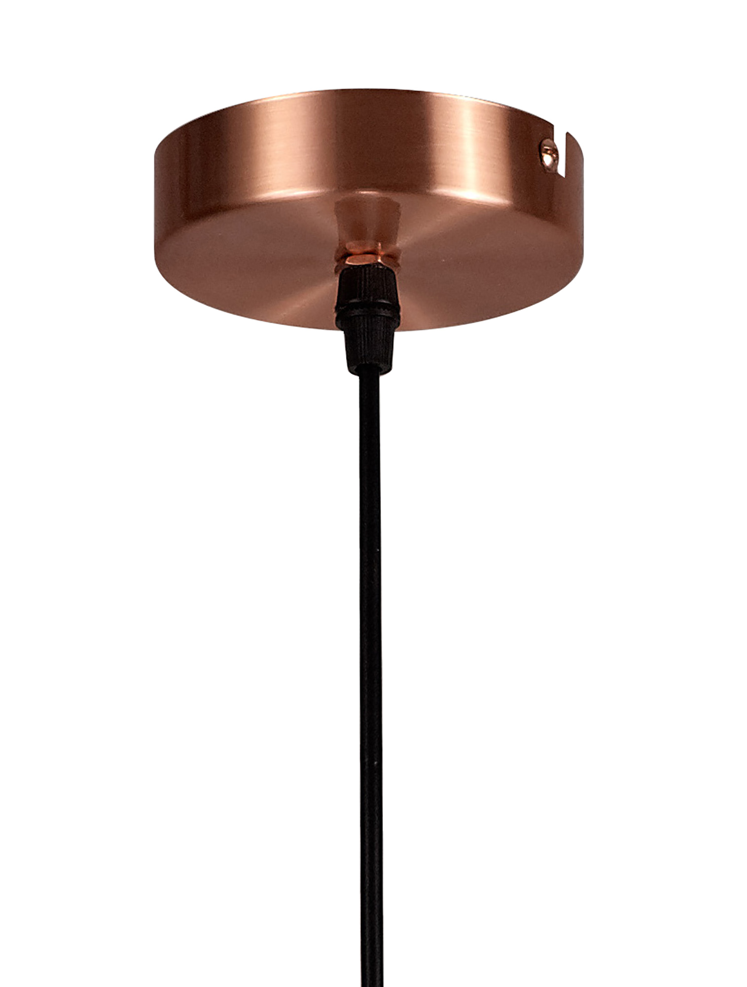 Medium Pendant, 1 x E27, Antique Copper/Black