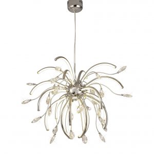 Large Pendant, 20 x 4.5W LED, 3000K, 2549lm, Polished Chrome, 3yrs Warranty