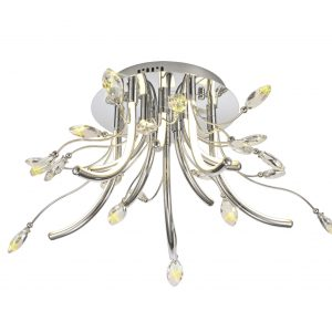 Medium Celing, 10 x 3.5W LED, 3000K, 1146lm, Polished Chrome, 3yrs Warranty