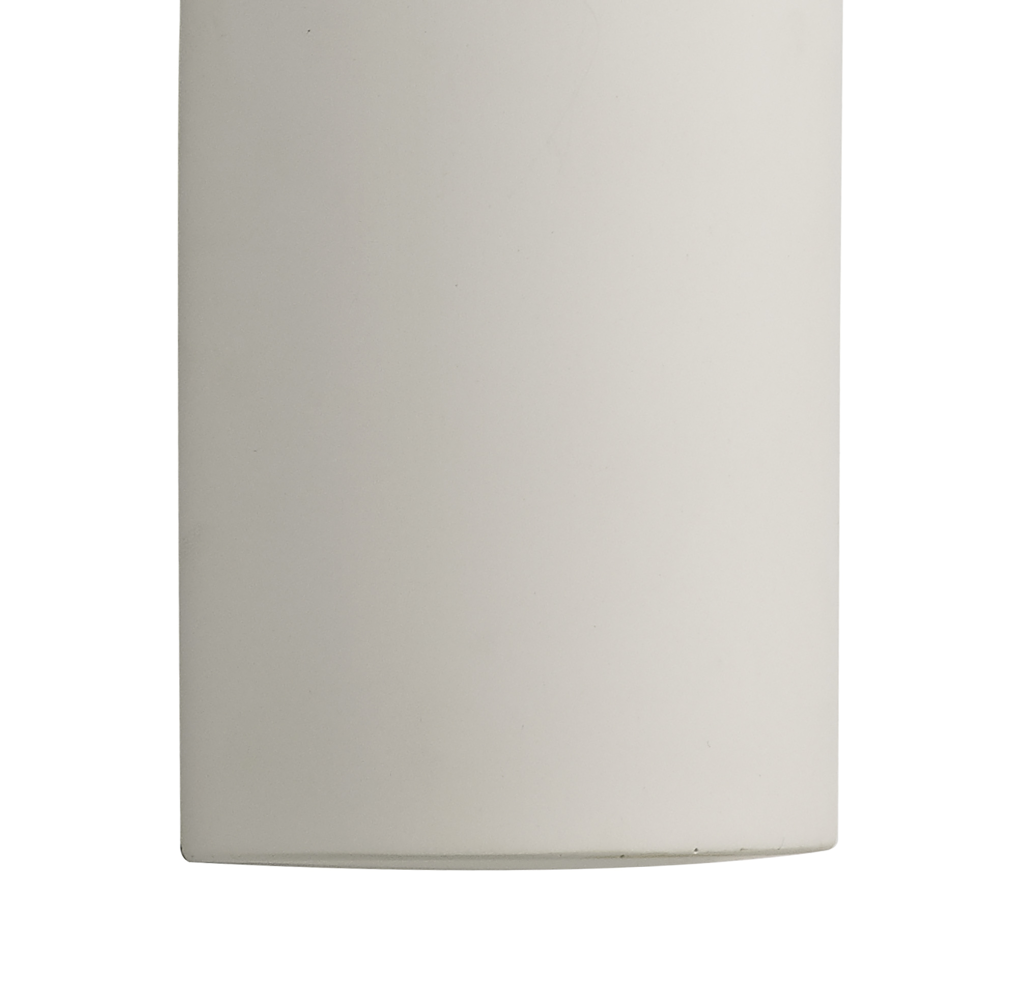 Uplighter Wall Lamp, 1 x 4.5W LED, 3000K, 275lm, White Paintable Gypsum, 3yrs Warranty