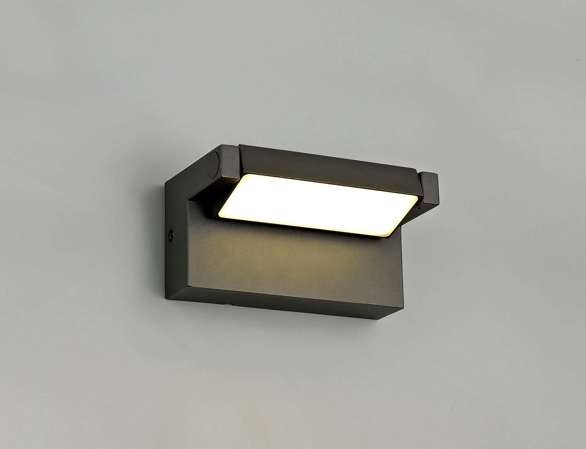 Wall Lamp Adjustable, 1 x 10W LED, 3000K, 720lm, IP54, Graphite Black, 3yrs Warranty