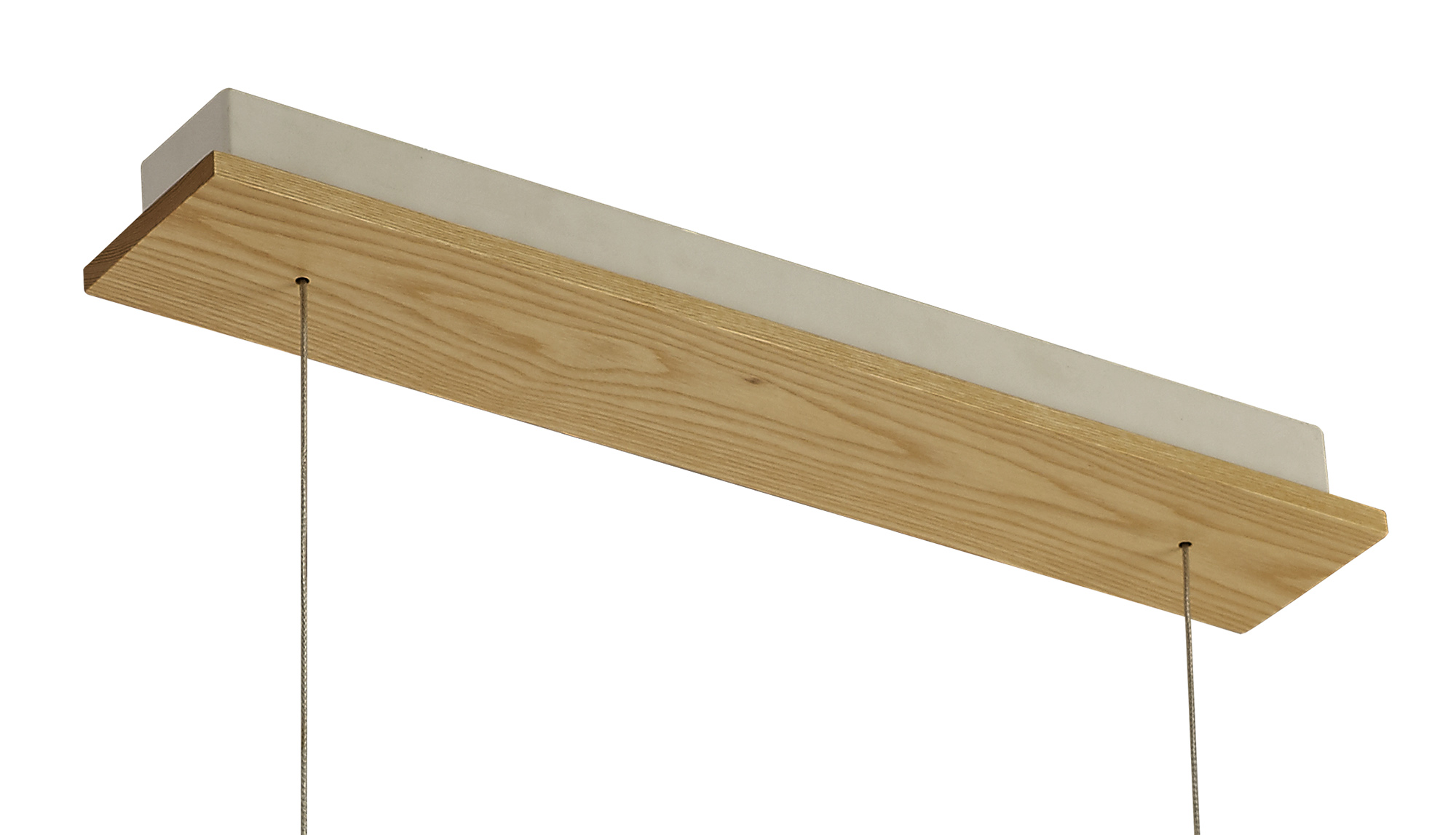 Linear Pendant , 2 x 20W LED, 3000K, 1662lm, Medium Oak, Matt White, 3yrs Warranty