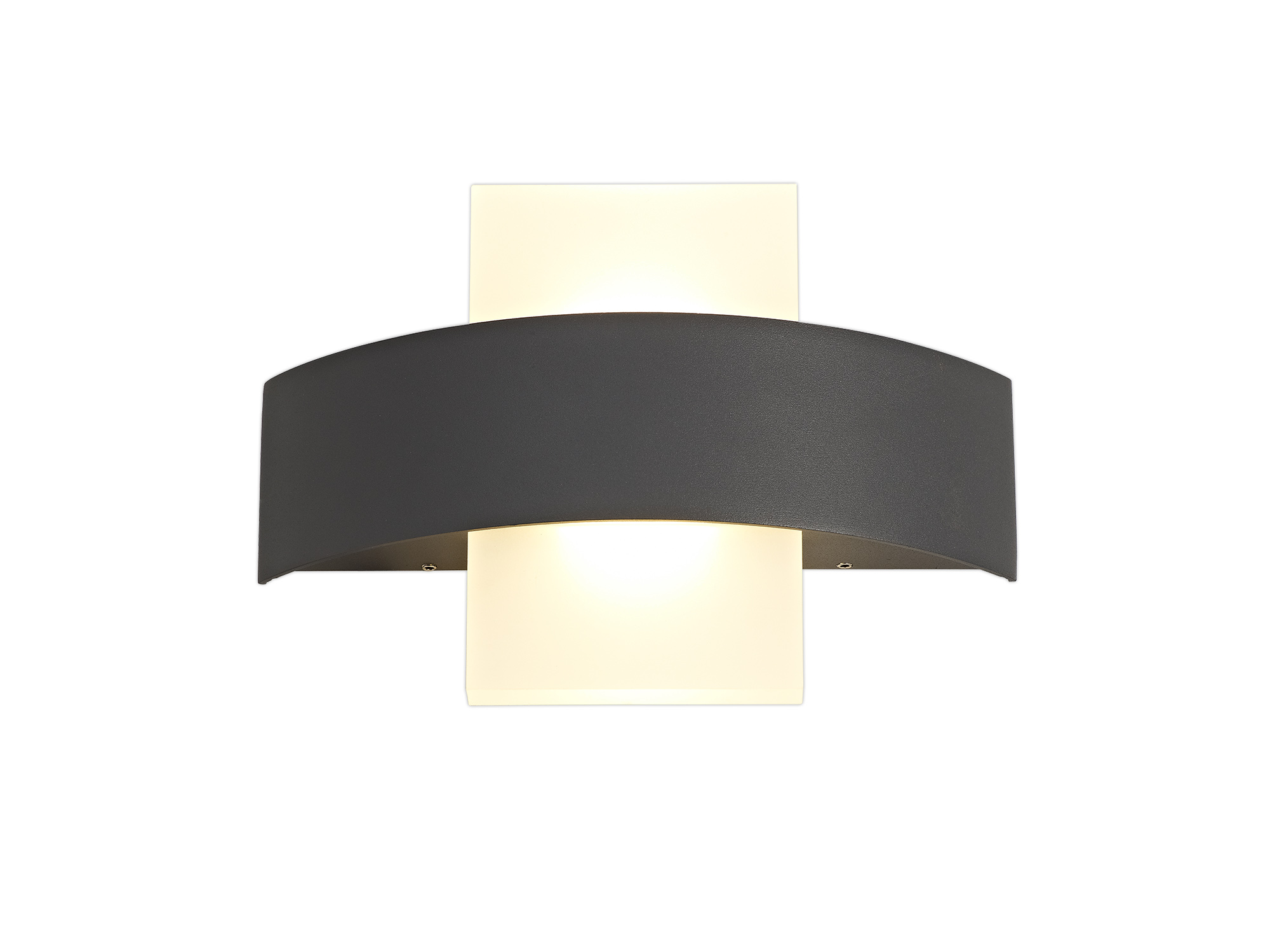 Up & Downward Lighting Wall Lamp, 2 x 5W LED, 3000K, 850lm, IP54, Anthracite, 3yrs Warranty