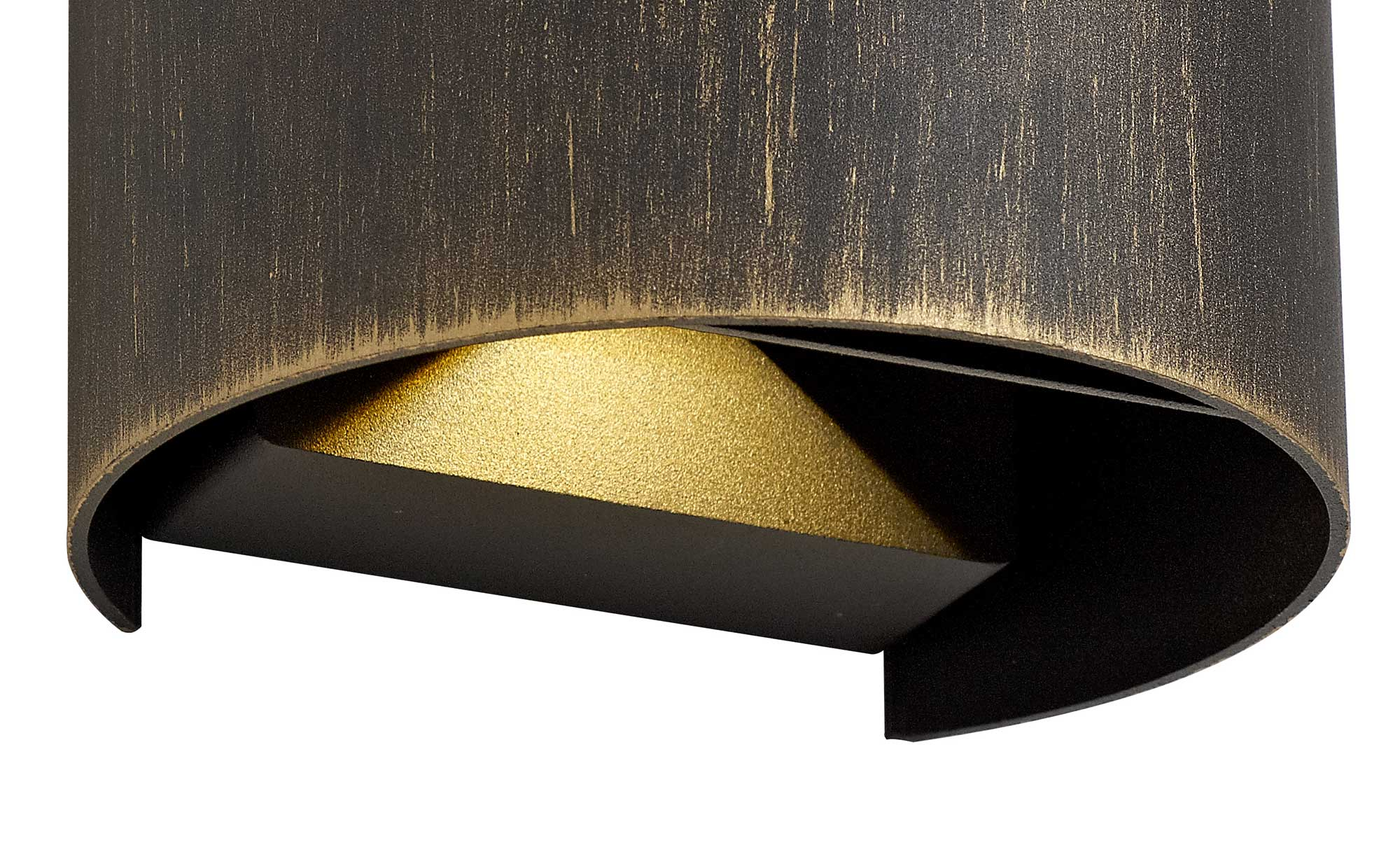 Up & Downward Lighting Wall Lamp, 2 x 3W LED, 3000K, 410lm, IP54, Black/Gold, 3yrs Warranty