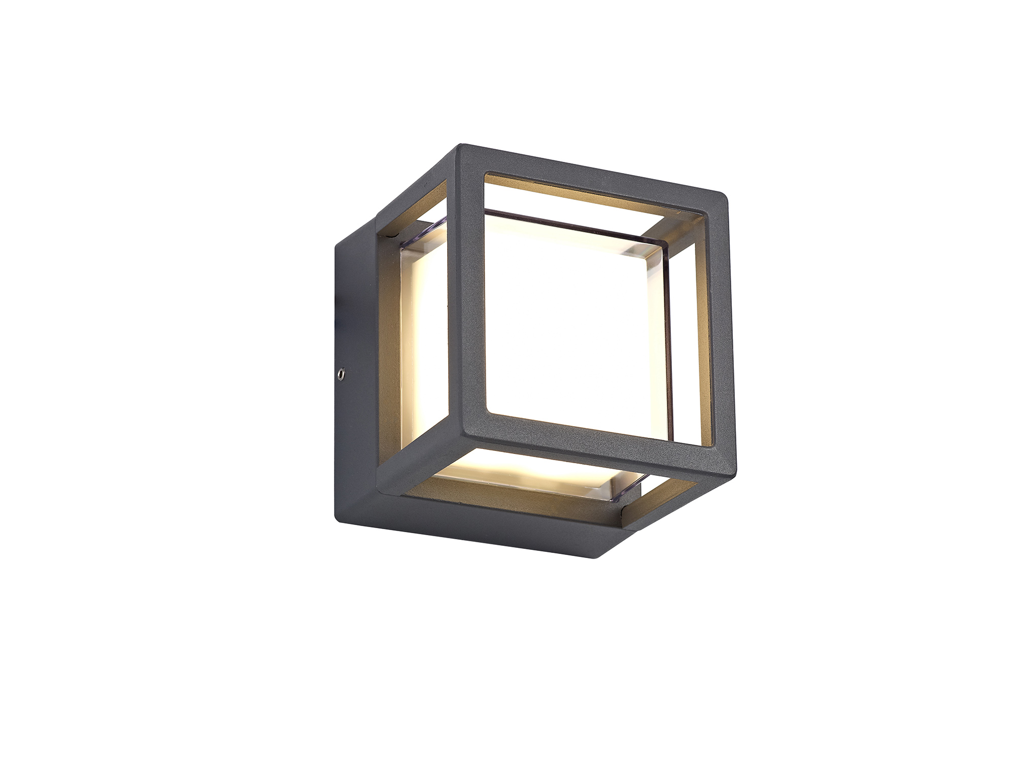 Square Downlight, 1 x 6W LED, 3000K, 360lm, IP54, Anthracite, 3yrs Warranty