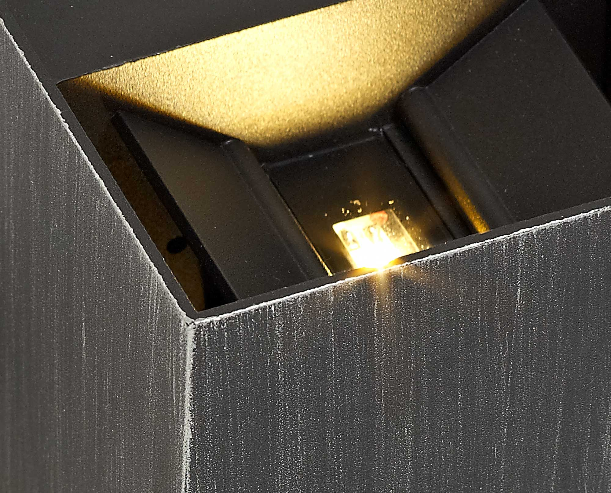 Up & Downward Lighting Wall Lamp, 2 x 3W LED, 3000K, 400lm, IP54, Black/Silver, 3yrs Warranty