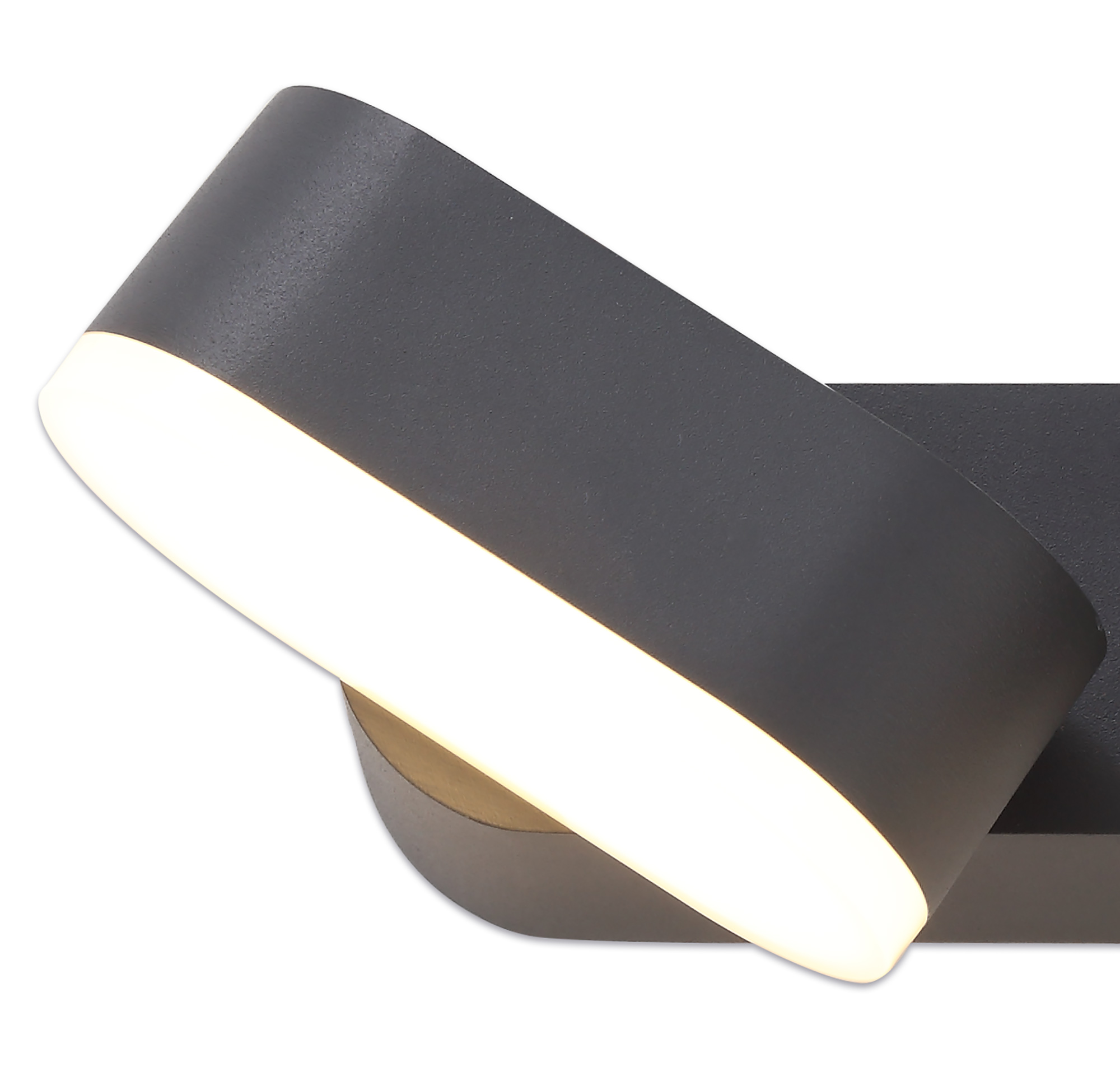 2 Light Adjustable Wall Lamp, 2 x 6W LED, 3000K, 780lm, IP54, Anthracite, 3yrs Warranty