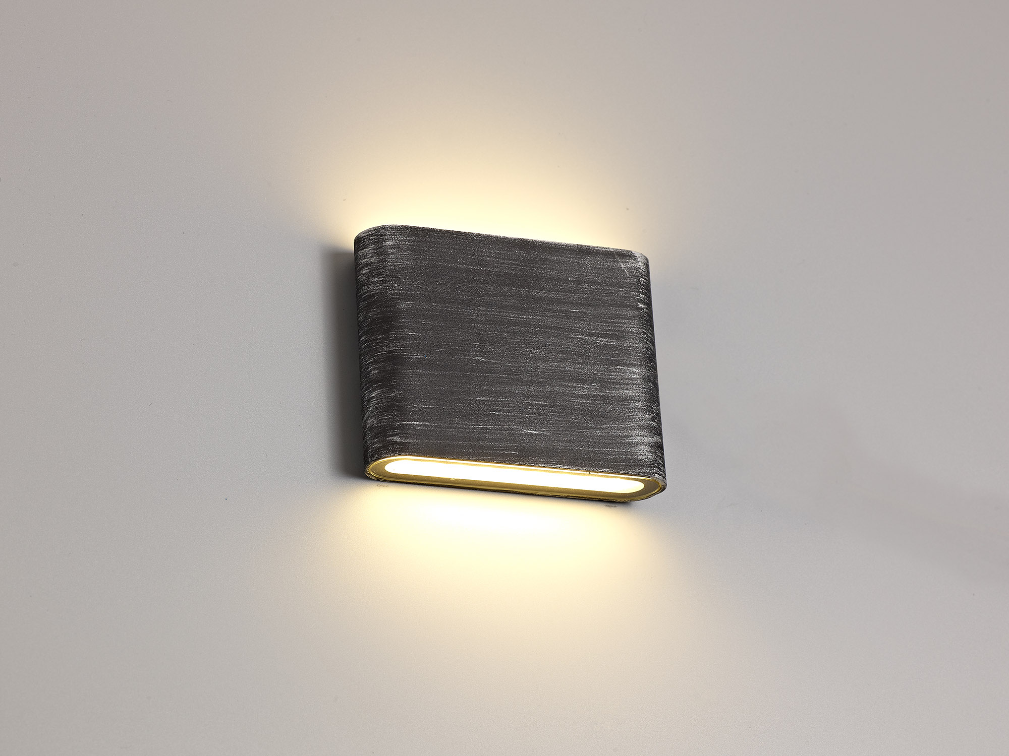 Up and Downward Lighting Wall Lamp, 2 x 3W LED, 3000K, 350lm, IP54, Black/Silver, 3yrs Warranty
