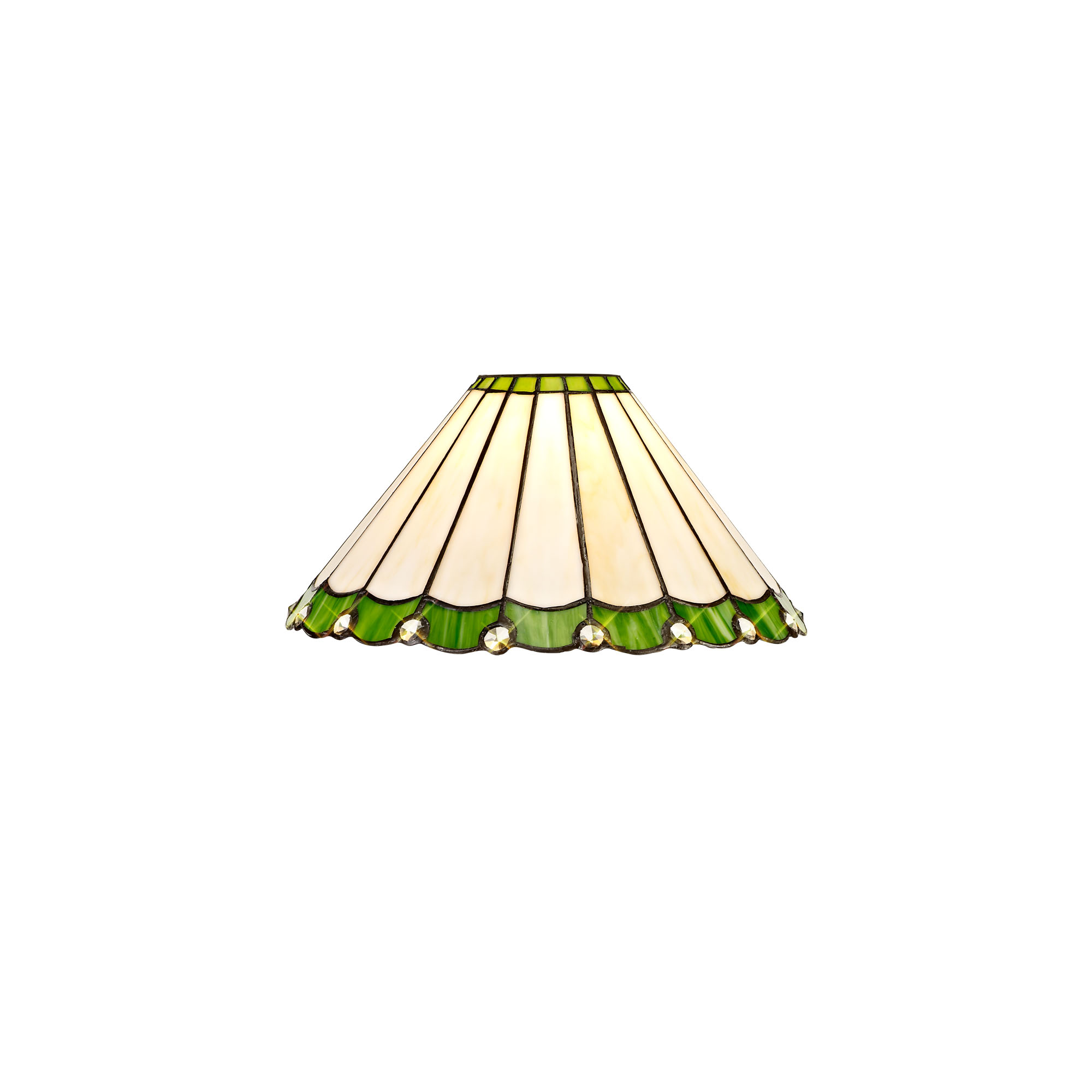 3 Light Semi Ceiling E27 With 30cm Tiffany Shade