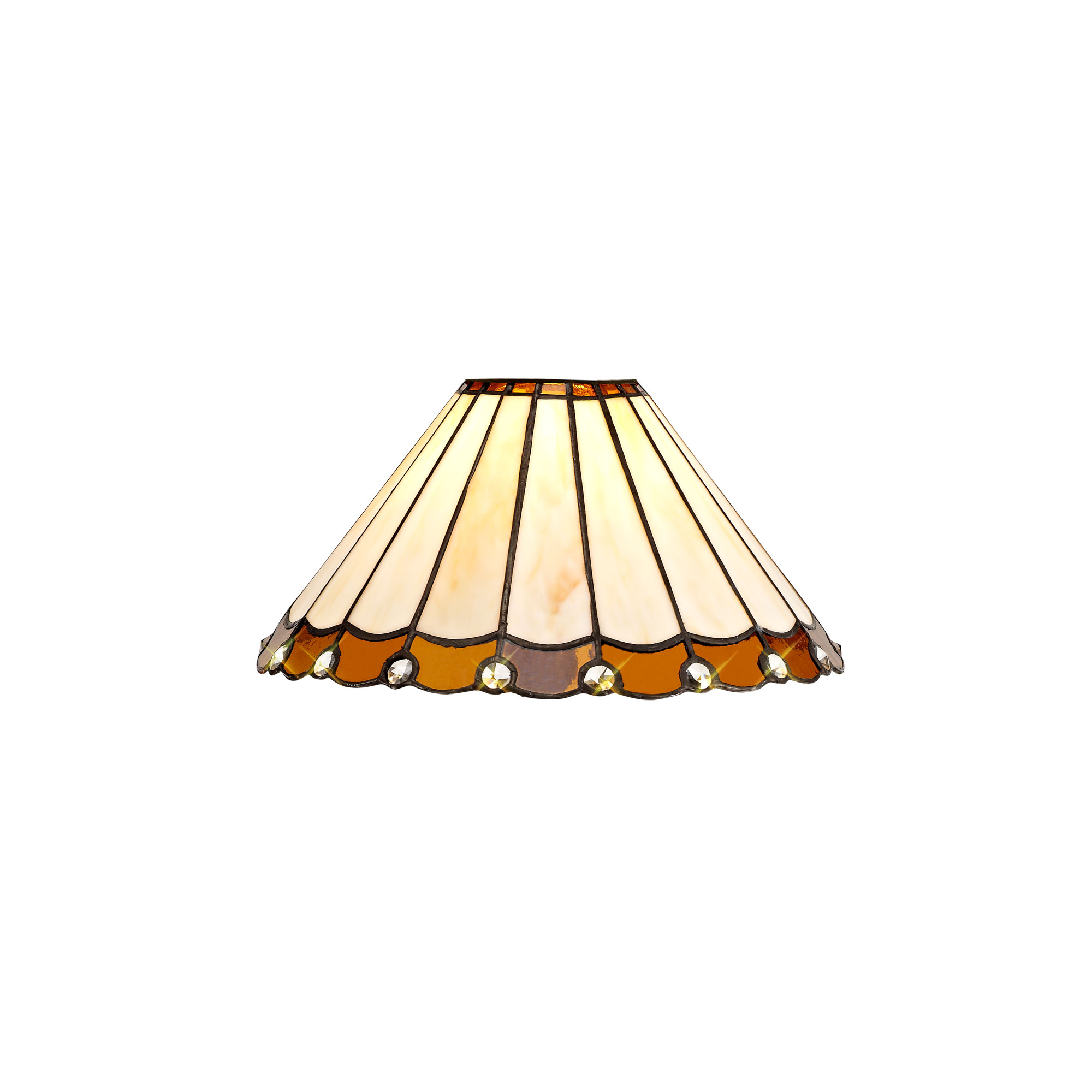 3 Light Downlighter Pendant E27 With 30cm Tiffany Shade