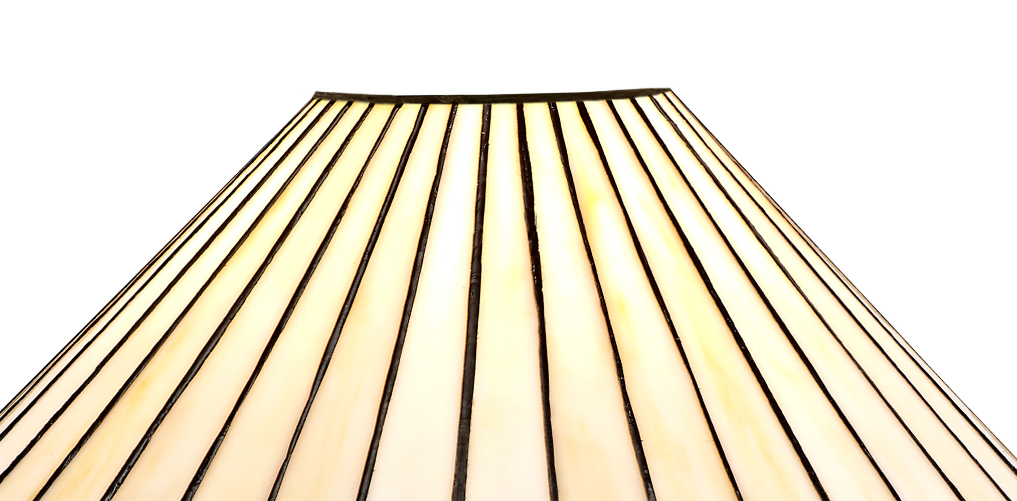 1 Light Curved Table Lamp E27 With 30cm Tiffany Shade, Amber/C/Crystal/Aged Antique Brass
