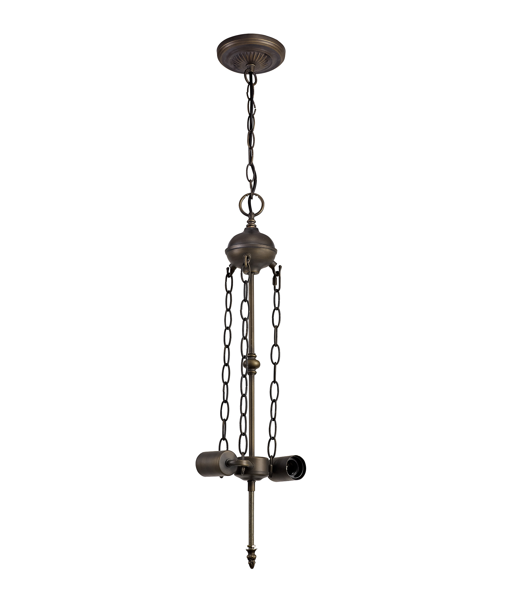 Uplighter Suspension Kit, 2 x E27, Aged Antique Brass