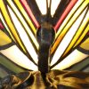 Tiffany Butterfly Table Lamp, 1 x E14, Black Base With Green/Red Glass With Clear Crystal