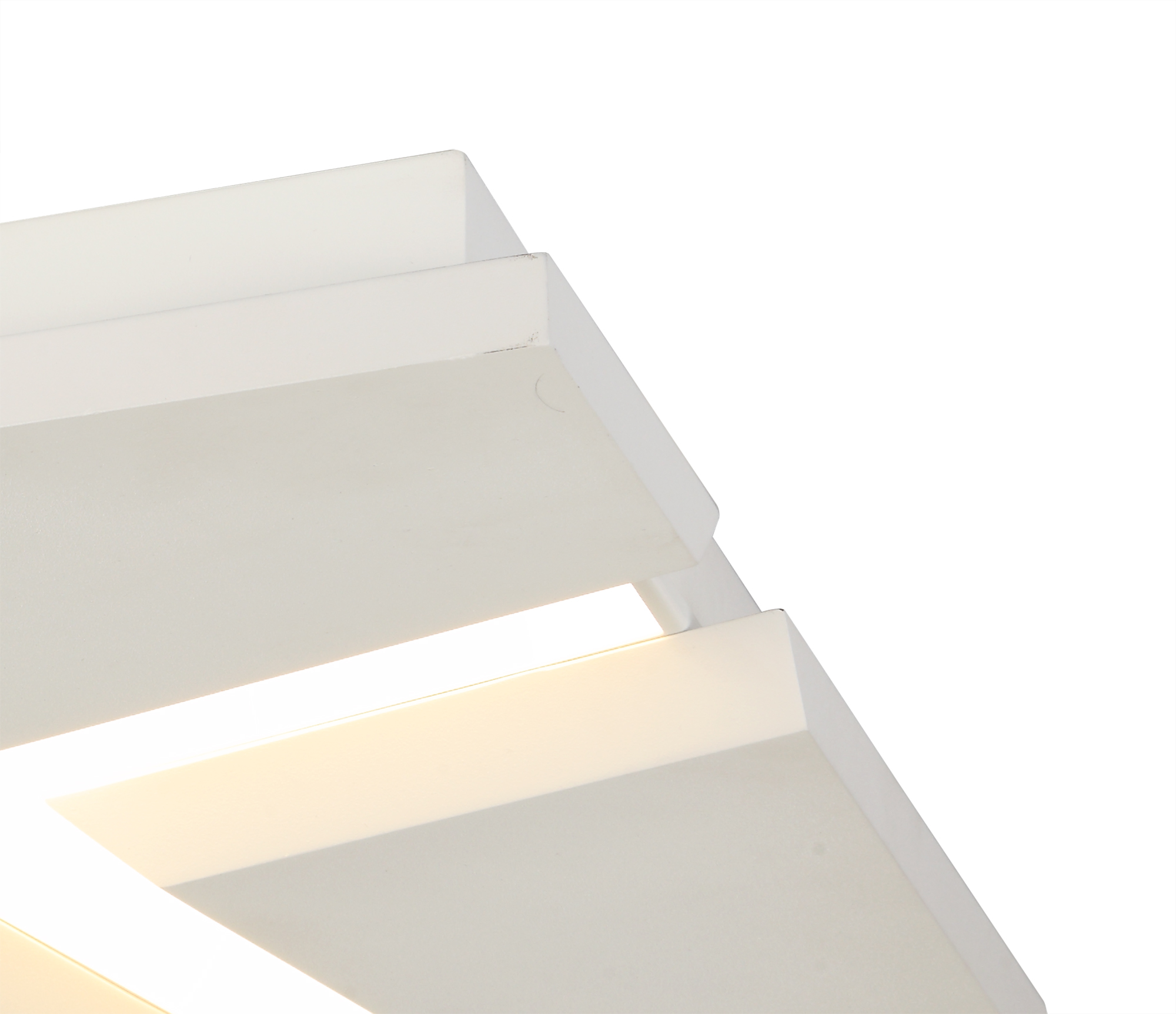 Flush Square Square Ceiling, 1 x 50W LED, 3000K, 3500lm, Sand White, 3yrs Warranty