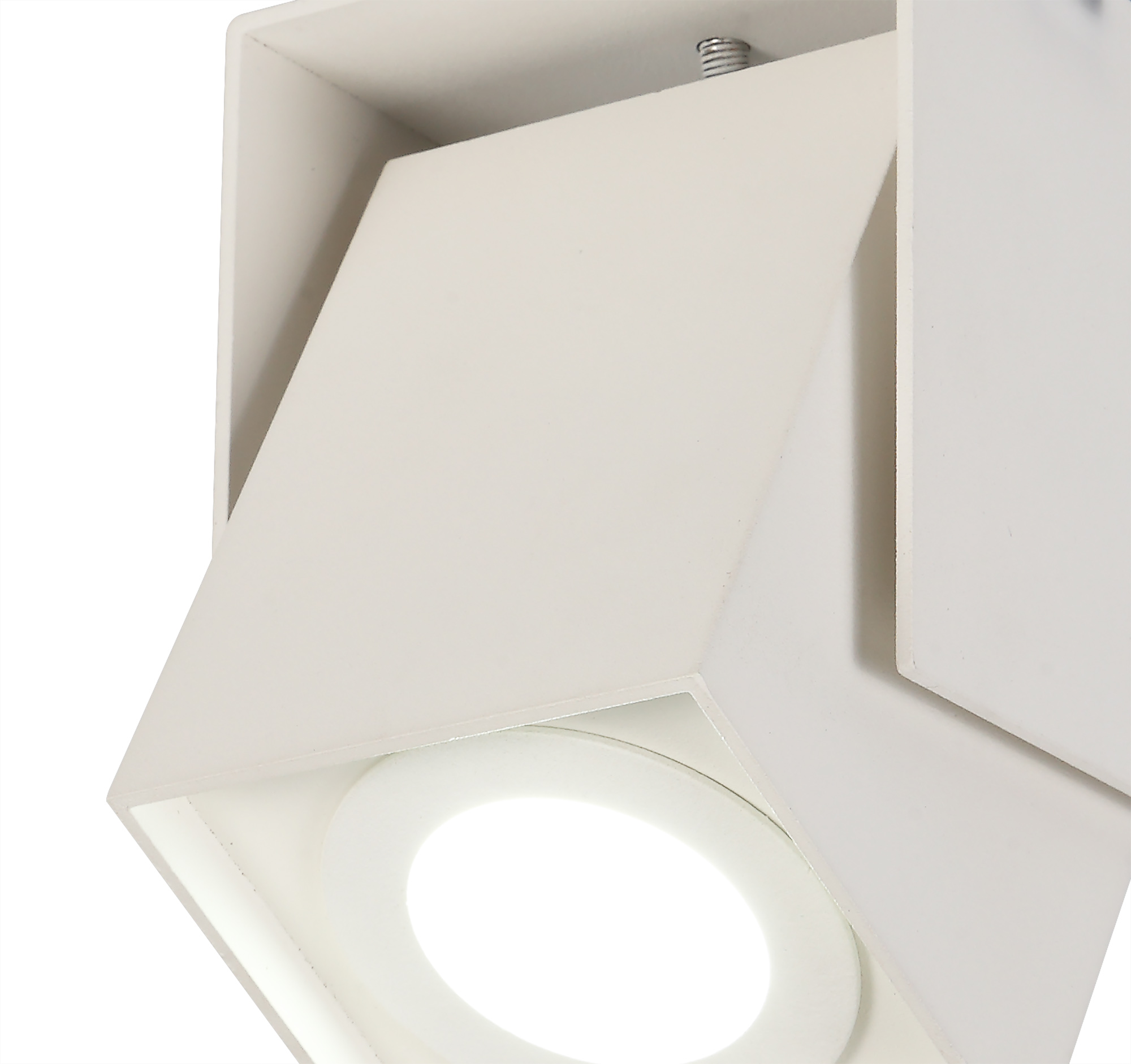 Adjustable Square Spotlight, 1 Light GU10, Cut Out: 62mm
