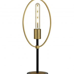 Table Lamp, 1 Light E27, Sand Gold/Matt Black