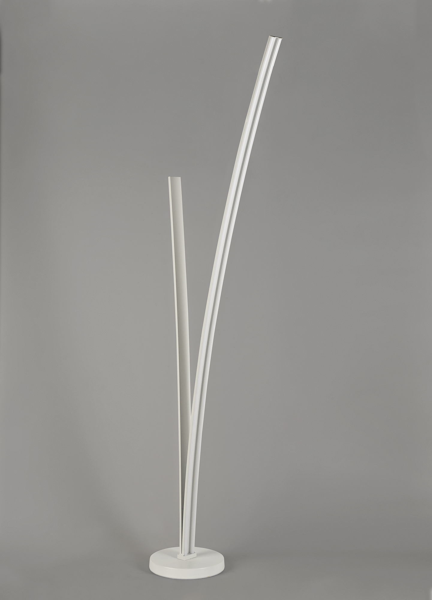 2 Light Floor Lamp Dimmable, 16W/20W LED, 4000K, 2270lm, White, 3yrs Warranty