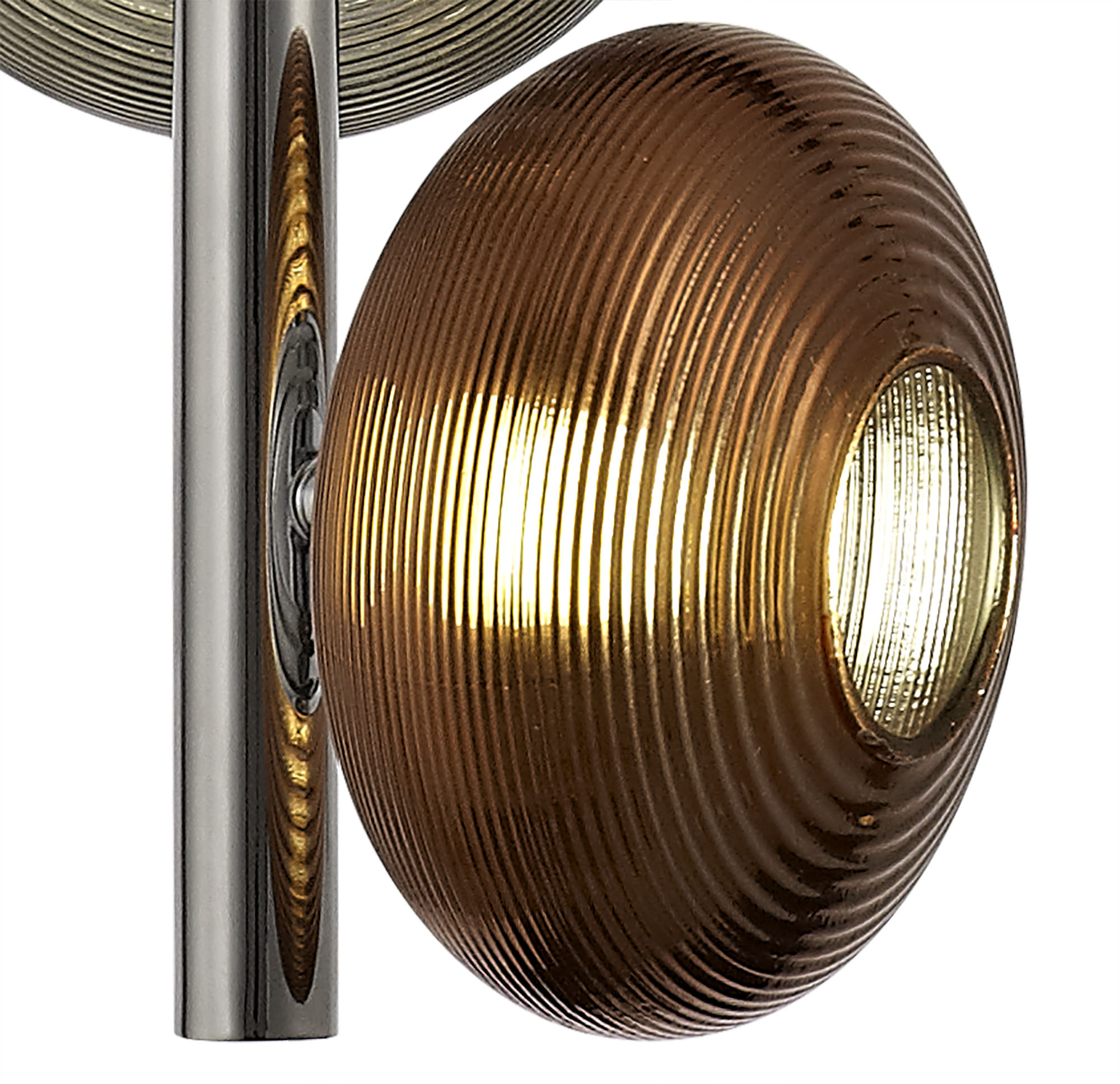 Multiple Pendant, 3 x 8W LED, 4000K, Smoked, Copper & Champagne/Polished Chrome, 3yrs Warranty