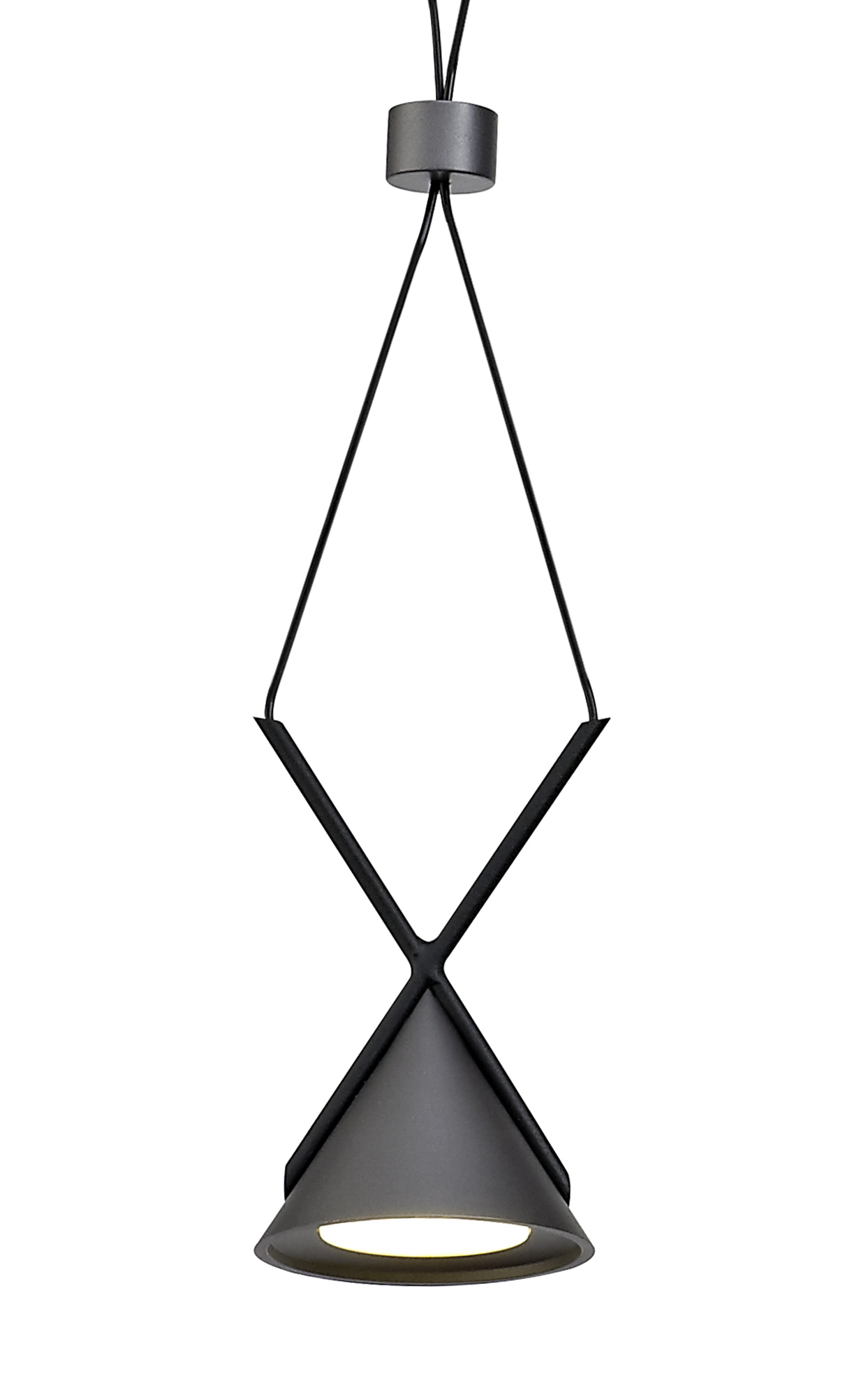 Bar Linear Pendant 3 Light, 3 x 3W LED, 3000K, 350lm, Sand Black/Grey, 3yrs Warranty