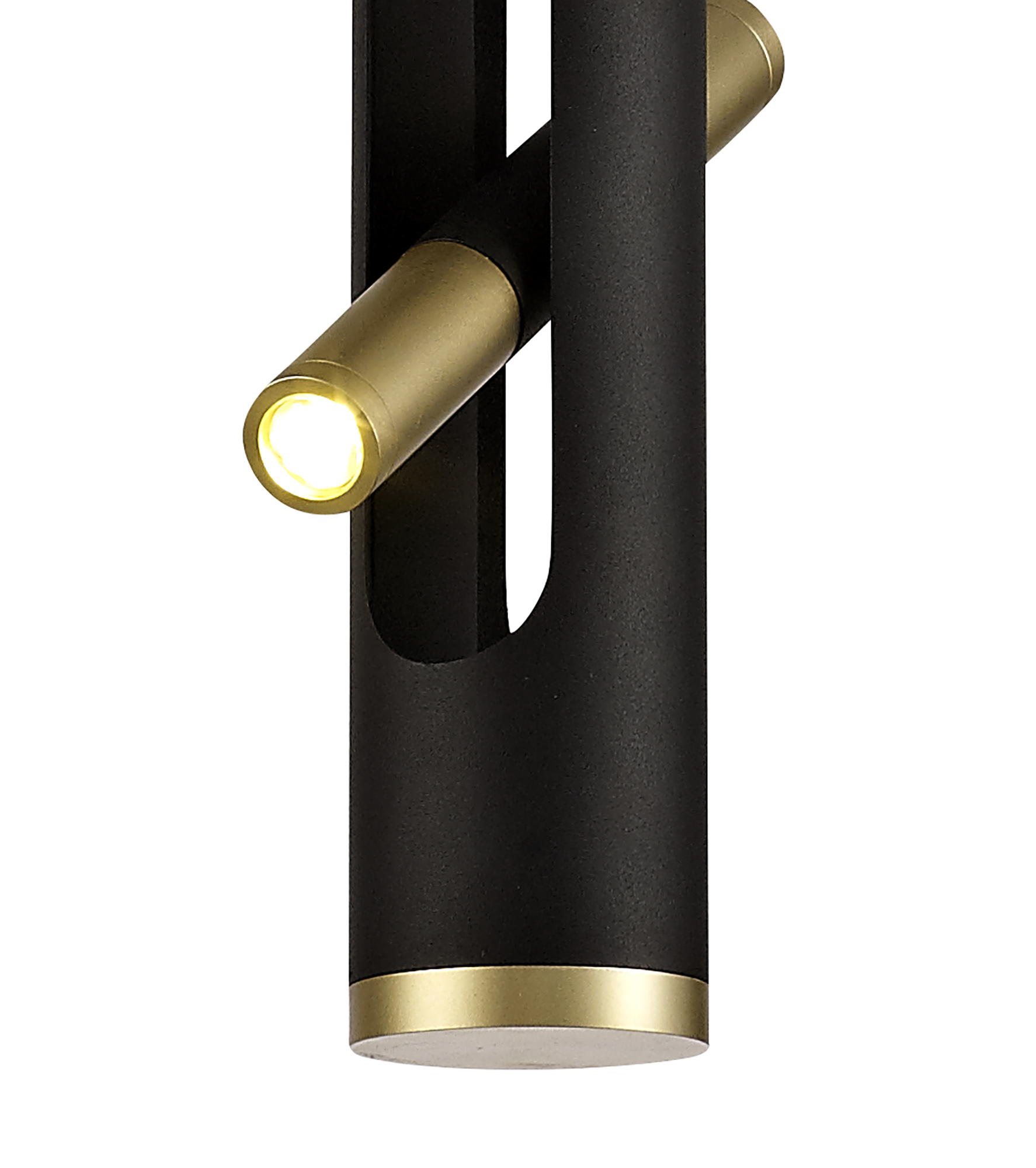 Pendant, 2 x 2W LED, 3000K, 560lm, Sand Black/Gold, 3yrs Warranty