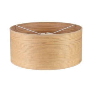 Round, 395 x 180mm Wood Effect Shade