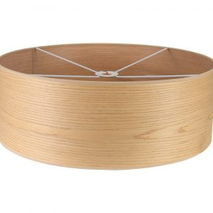 Round, 600 x 210mm Wood Effect Shade
