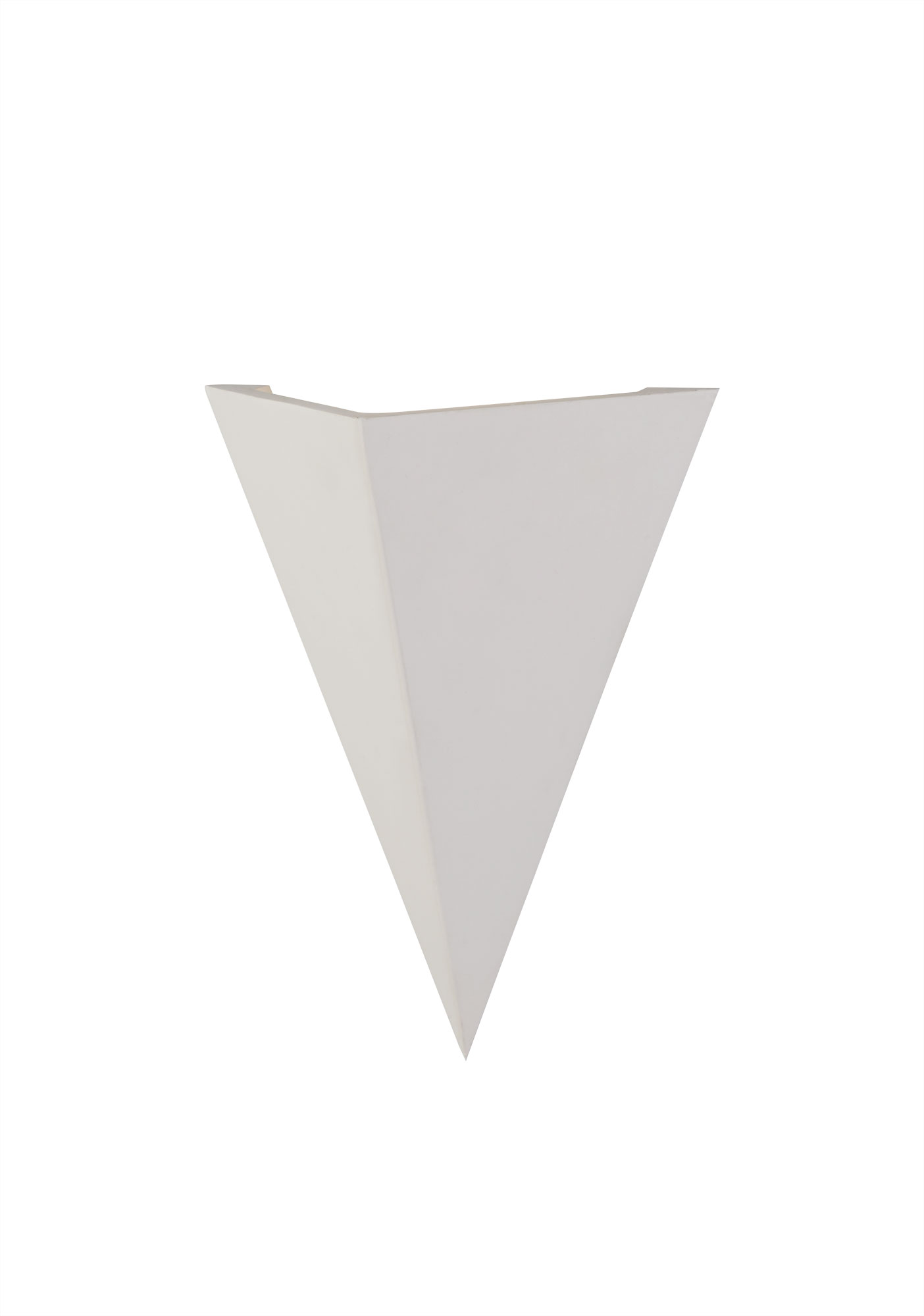 Triangle Wall Lamp, 1 x G9, White Paintable Gypsum