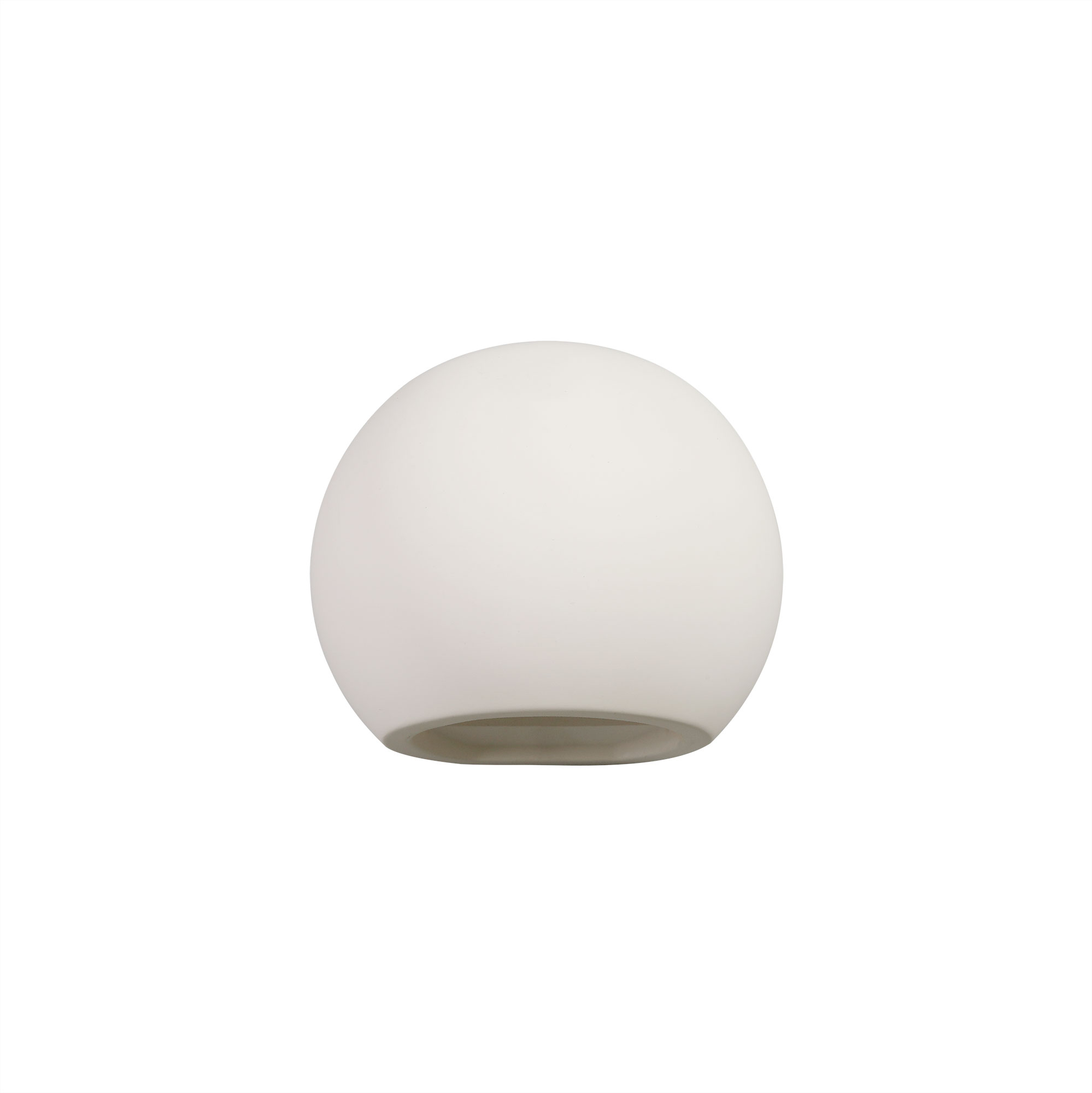 Round Ball Up & Down Wall Lamp, 1 x G9, White Paintable Gypsum