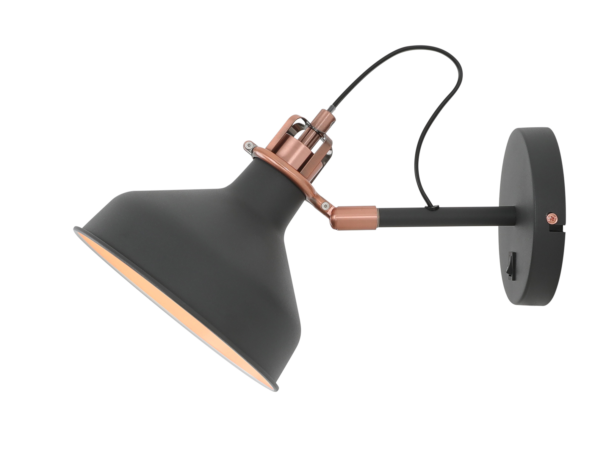 Adjustable Wall Lamp Switched, 1 x E27