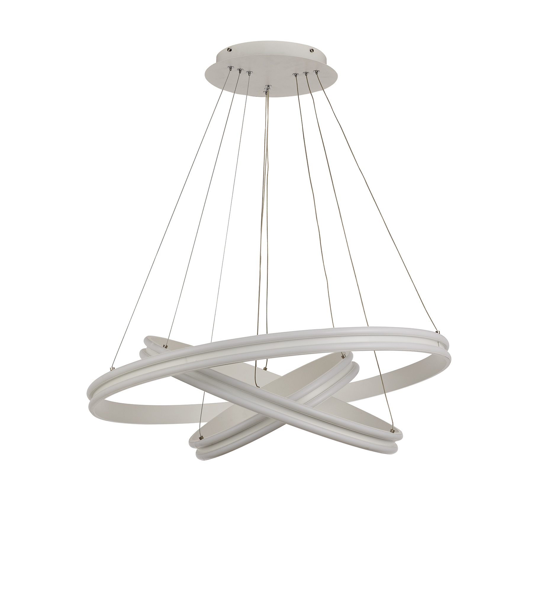 Pendant, 3 Light 50W,30W,20W LED, 4000K, 5470lm, Dimmable, Matt White, 3yrs Warranty