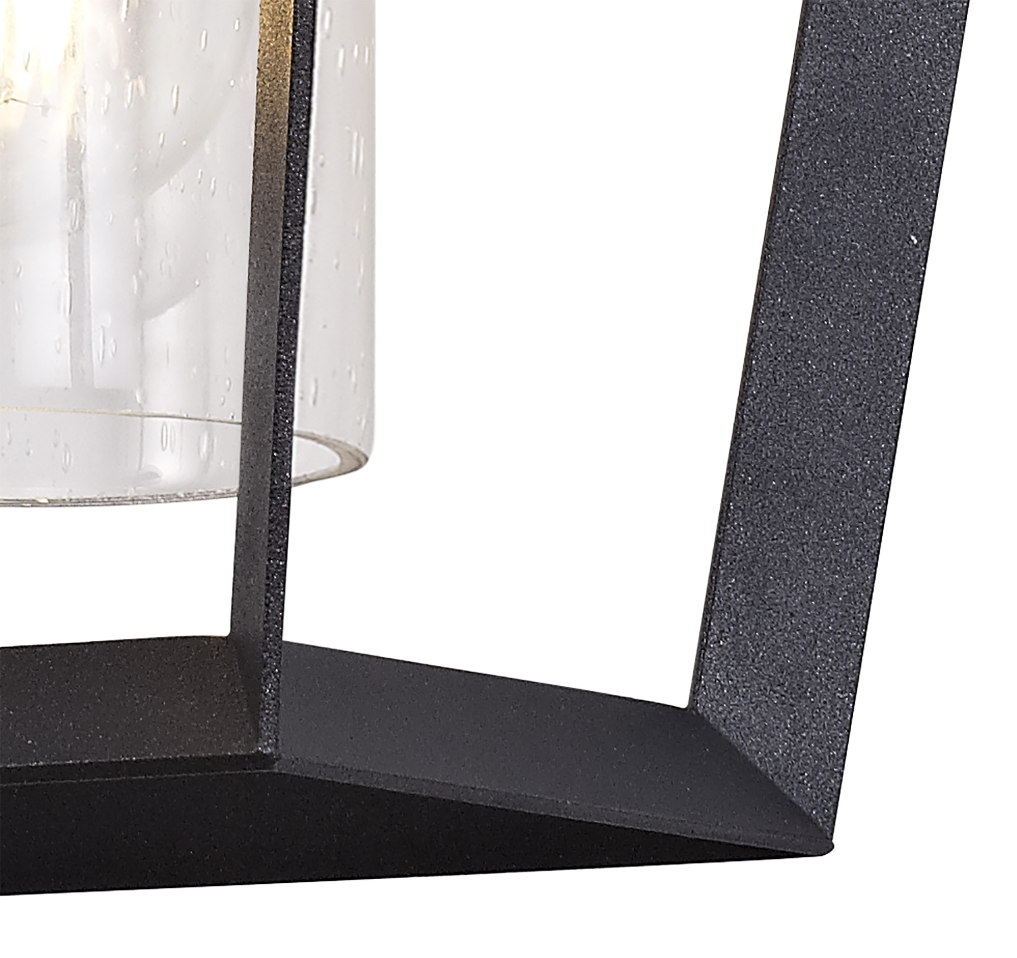 Down Wall Lamp, 1 x E27, IP54, Anthracite/Clear Rain Drop Effect Glass, 2yrs Warranty