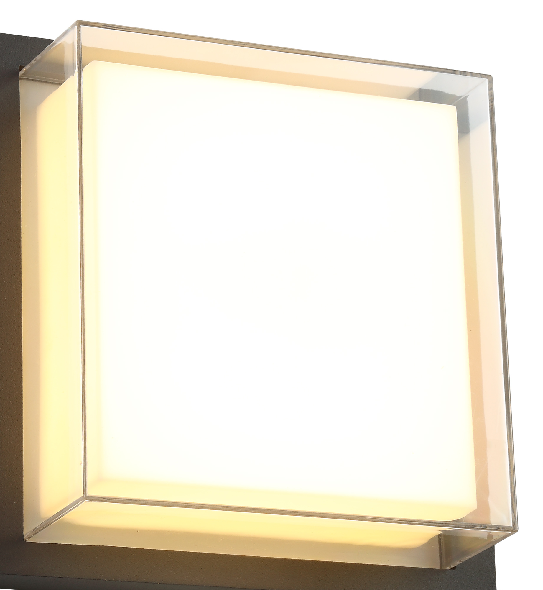 Wall Lamp, 1 x 16W LED, 3000K, 1135lm, IP65, Anthracite/Opal/Clear PC, 3yrs Warranty
