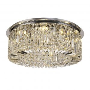 65cm Round Flush Chandelier, 8 Light E14