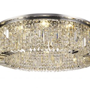 85cm Round Flush Chandelier, 12 Light E14
