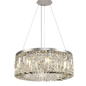 60cm Round Pendant Chandelier, 8 Light E14