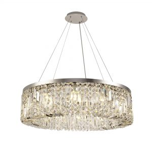 80cm Round Pendant Chandelier, 12 Light E14